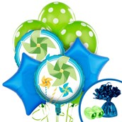 Pinwheel Boy 1st  Balloon Bouquet