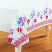 Pinwheel Girl Plastic Tablecover