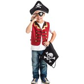 Pirate Drawstring Backpack Play Pretend Set For Boys