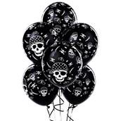 Pirate Skull and Crossbones Latex Balloons