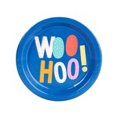 Playful Pom Pom Woo Hoo Dessert Plate (8)