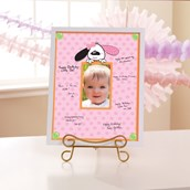 Playful Puppy Pink Framed Signature Matte