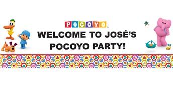 Pocoyo Personalized Vinyl Banner