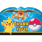 Pokemon Thank-You Note Postcards