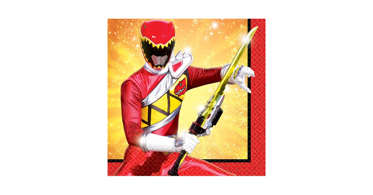 Power rangers dino charge beverage napkins 16 - Sonic power rangers dino charge ...