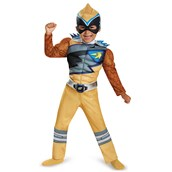 Power Rangers Dino Charge: Boys Toddler Gold Ranger Muscle Costume