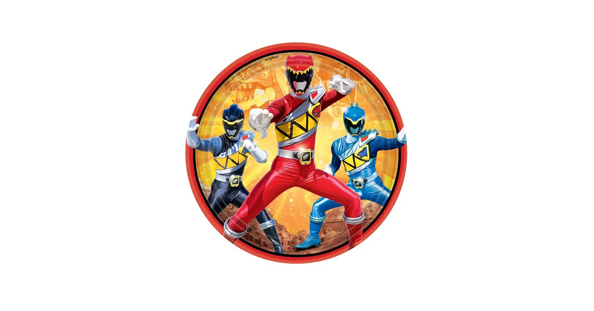 Power rangers dino charge dessert plates 8 - Sonic power rangers dino charge ...