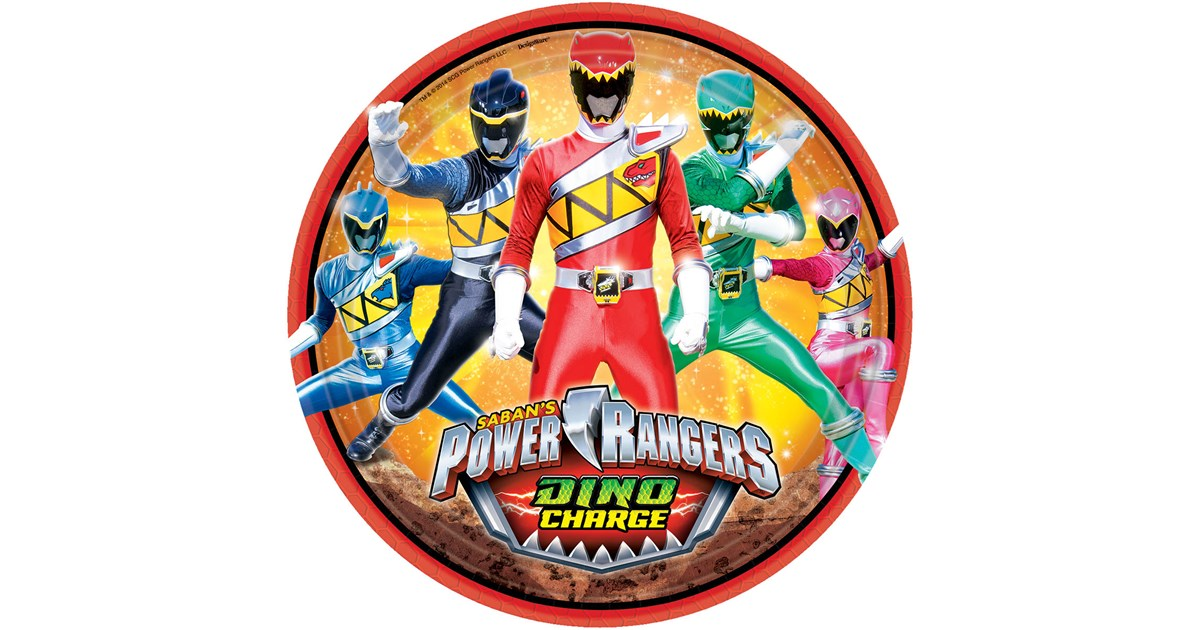 Power rangers dino charge dinner plates 8 - Sonic power rangers dino charge ...