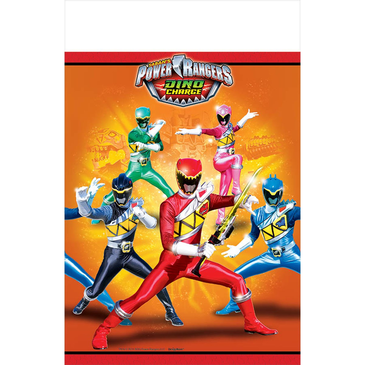 Power Rangers Dino Charge Plastic Tablecover – Power Rangers Birthday Invitations