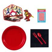 Power Rangers Tableware and Cake Topper Kit