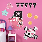 Pretty Pirates Party Giant Wall Decals