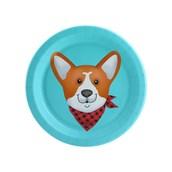 Puppy Dog Paw-ty Blue Corgi Dessert Plate (8)