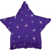 Purple Sparkle Star Foil Balloon