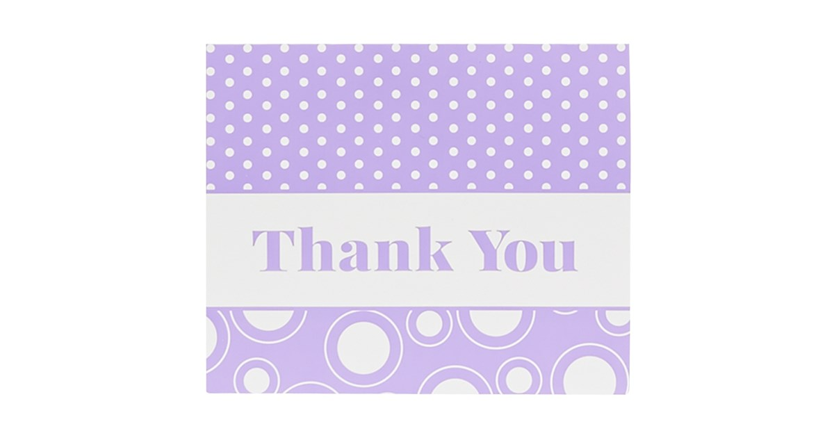 Purple Thank You Notes 8 Birthdayexpress Com