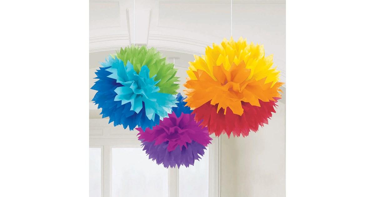 Rainbow 16 Quot Fluffy Decorations 3 Birthdayexpress Com
