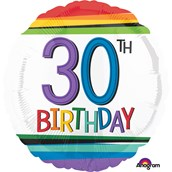 "Rainbow Birthday 30th Birthday 17"" Ballo"