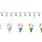 Rainbow Birthday Party Flag Banner