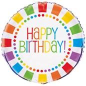 Rainbow Birthday Party Foil Balloon