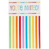 Rainbow Birthday Party Invitations (8)