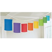 Rainbow Paper Lantern Garland