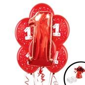 Red 1st Birthday Balloon Bouquet