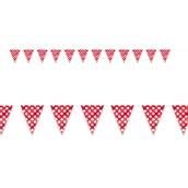 Red and White Dot Flag Banner