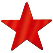 Red Foil Star