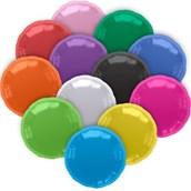 "Red Metallic Round 18"" Balloon (Each)"