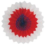 Red, White & Blue Tissue Fan
