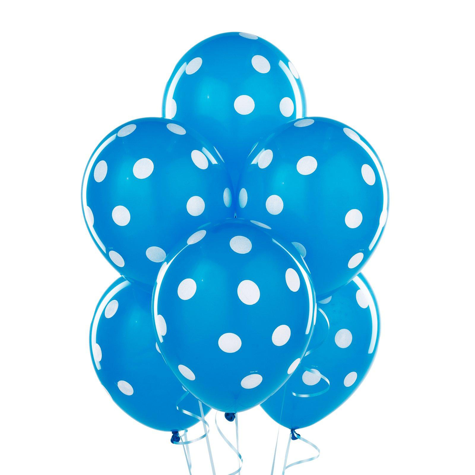 Blue With White Polka Dots Sesame Street Dot Background