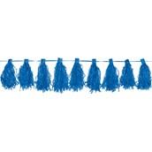 Royal Blue Paper Tassel Garland