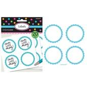 Scalloped Paper Labels- Robin's Egg Blue (20)