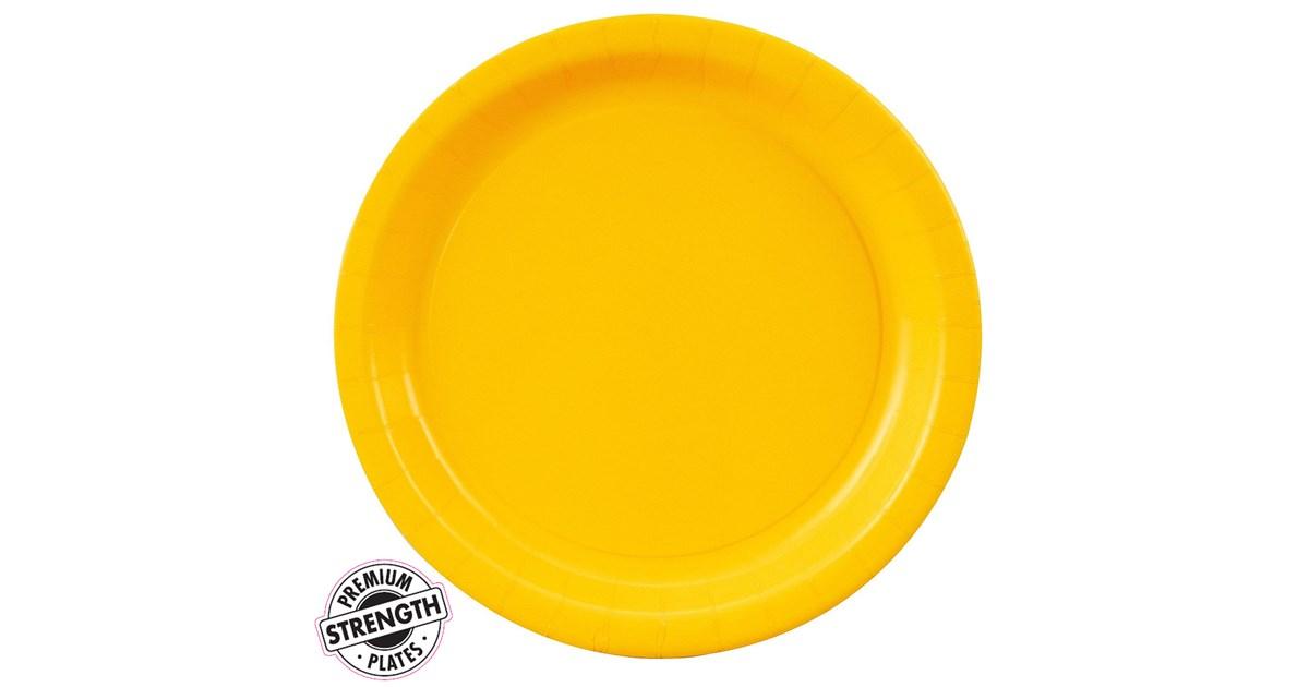 Dinner Plate Yellow Birthdayexpress Com