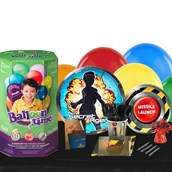 Secret Agent 16 Guest Kit with Tableware and Helium Kit