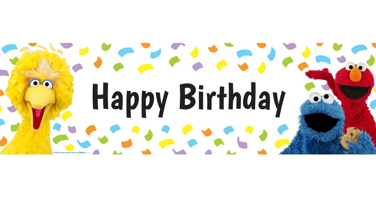 Sesame Street Birthday Banner | BirthdayExpress.com