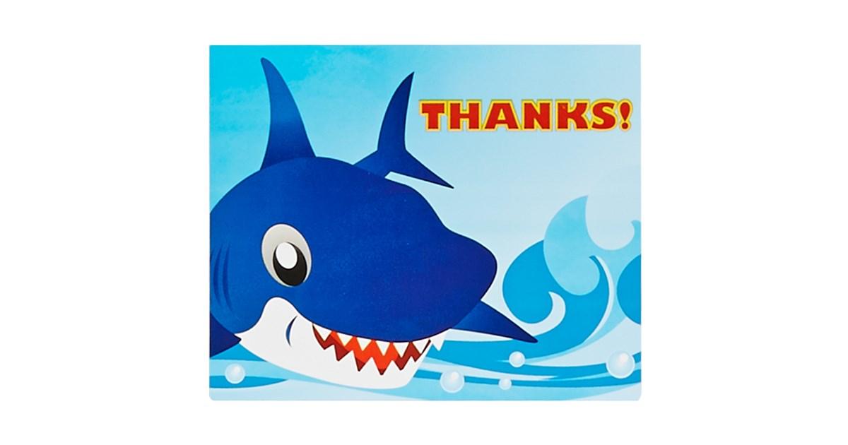 Sharks Thank You Notes Birthdayexpress Com
