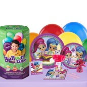 Shimmer and Shine 16 Guest Kit with Tableware and Helium Kit