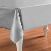 Shimmering Silver (Silver) Plastic Tablecover