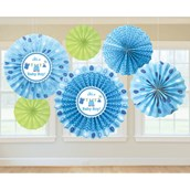 Shower With Love Baby Boy Fan Decoration