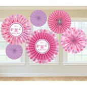 Shower With Love Baby Girl Fan Decoration