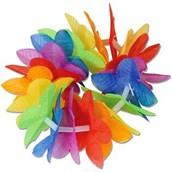 Silk 'N Petals Rainbow Floral Wristlets / Anklets