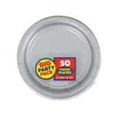 Silver Big Party Pack Dessert Plates
