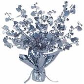 Silver Heart Foil Centerpiece