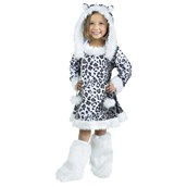 Snow Leopard Toddler Girl Costume
