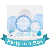 Snowflake Winter Wonderland Party in a Box For 8