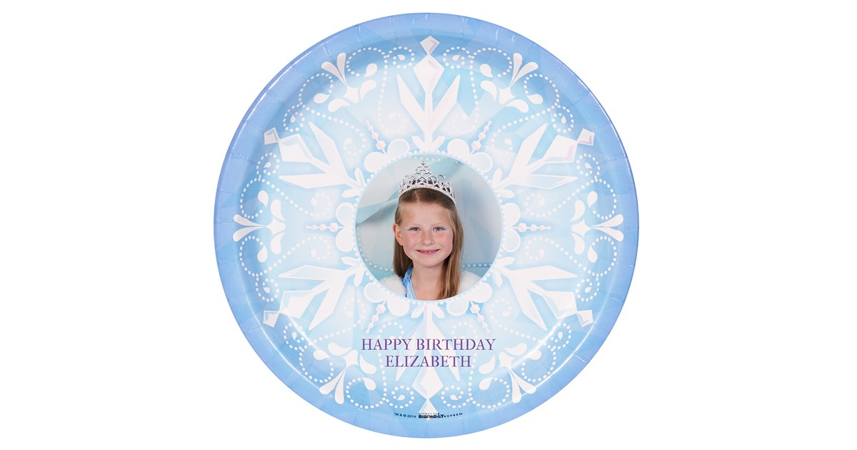 Snowflake Winter Wonderland Personalized Dinner Plates 8