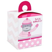Sock Monkey Pink Cupcake Boxes (4)