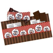 Sock Monkey Red Small Candy Bar Wrappers