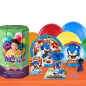Sonic Boom 16 Guest Kit with Tableware and Helium Kit