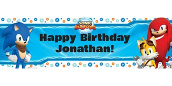 Sonic Boom Personalized Text Banner